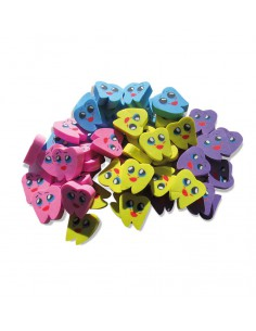 Erasers Teeth Asorted colors